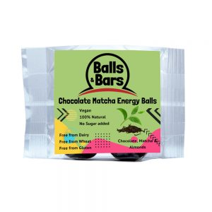 Balls and Bars Chocolate Matcha Energy Balls